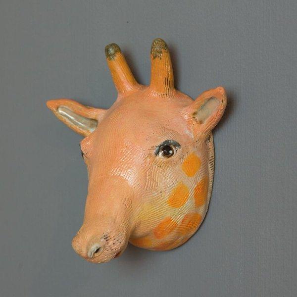 """Barry Gregg Barry Gregg, Giraffe, handbuilt earthenware, glaze, 6.5 x 6.5 x 4"""""""