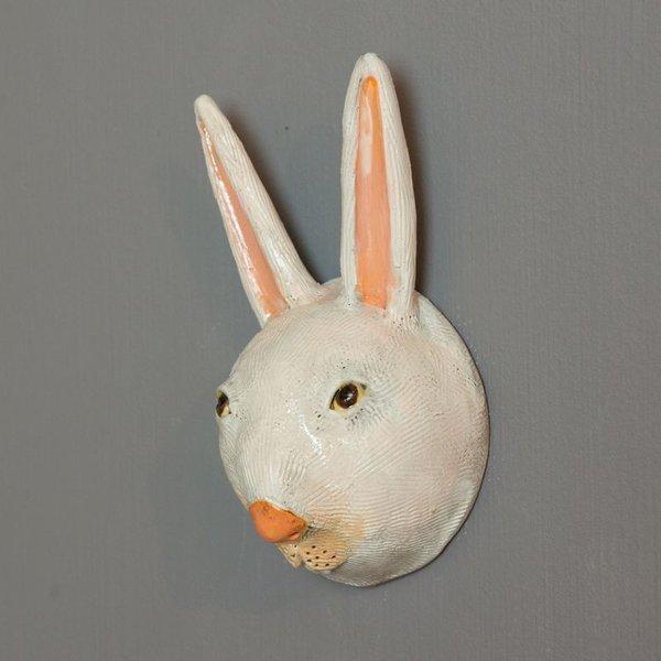 """Barry Gregg Barry Gregg, White Rabbit, handbuilt earthenware, glaze, 7.75 x 4 x 3"""""""