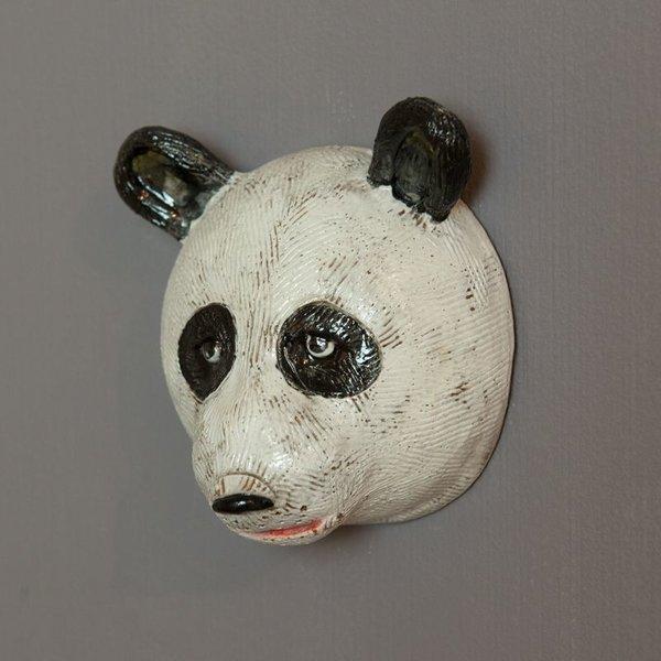 "Barry Gregg Barry Gregg, Panda, handbuilt earthenware, glaze, 5 x 4.75 x 3"""