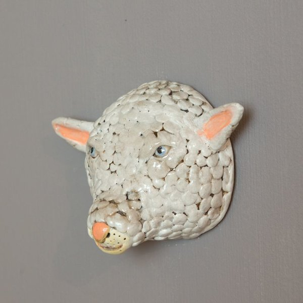 Barry Gregg Barry Gregg, Sheep, handbuilt earthenware, glaze, 5.25 x 6.75 x 3.25""