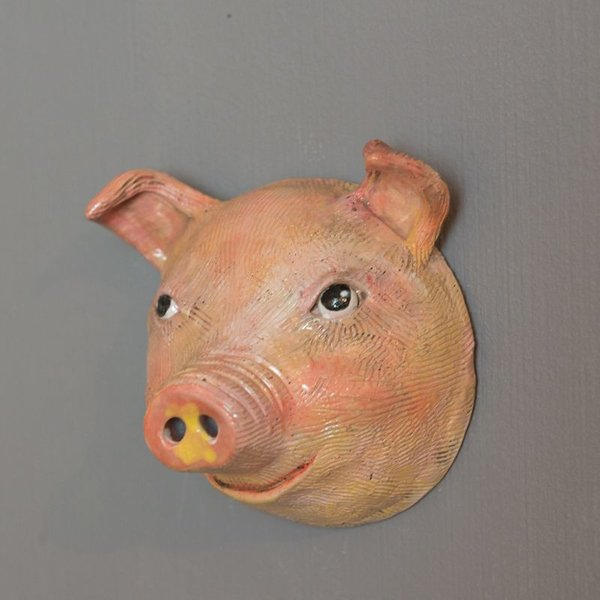 Barry Gregg Barry Gregg, Pig, handbuilt earthenware, glaze, 5 x 5 x 3.5 ""
