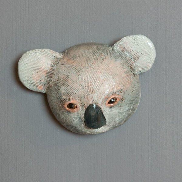 "Barry Gregg Barry Gregg, Koala, handbuilt earthenware, glaze, 4.5 x 6.5 x 2.25"""