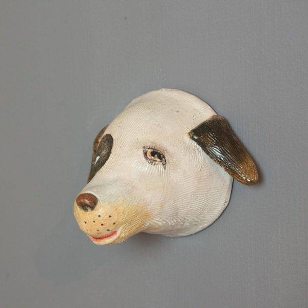 "Barry Gregg Barry Gregg, Dog, handbuilt earthenware, glaze, 5 x 4.75 x 3"""