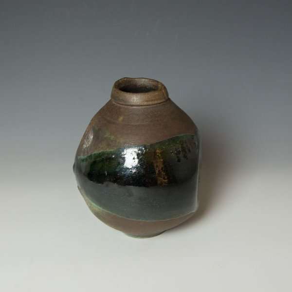 "Shadow May, Vase, stoneware, glaze, 8.25 x 7"" dia"