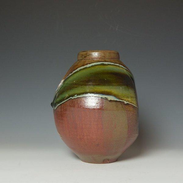 "Shadow May, Vase, stoneware, glaze, 10.5 x 7.75 x 8.25"""