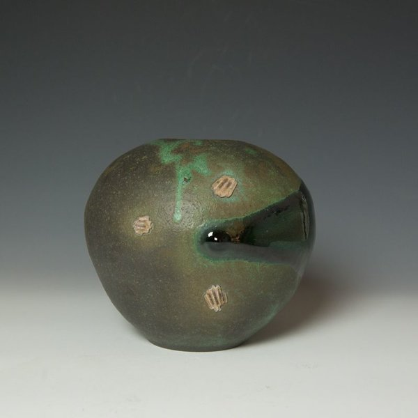 Shadow May, Vase, stoneware, glaze, 7.25 x 7.5 x 8""