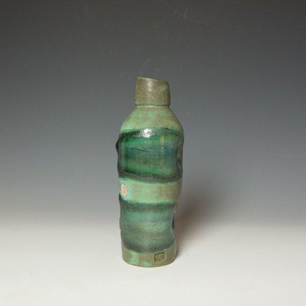 """Shadow May, Bottle Vase, stoneware, glaze, 9 x 3 x 3.25"""""""