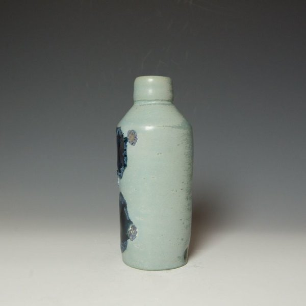 Shadow May, Bottle Vase, stoneware, glaze, 9 x 3 x 3.25""