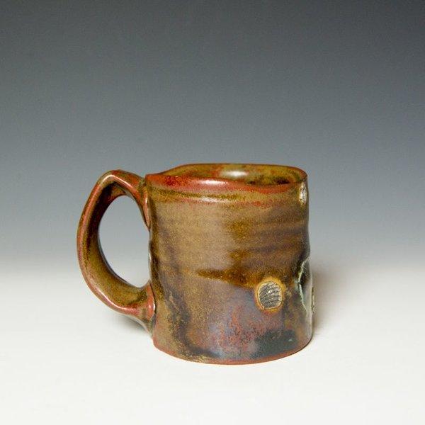 """Shadow May, Mug, stoneware, glaze, 3.75 x 5 x 3.5"""""""