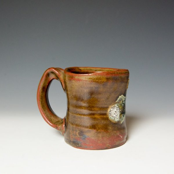 Shadow May, Mug, stoneware, glaze, 4 x 5.25 x 3.5""