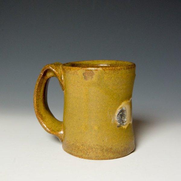 """Shadow May, Mug, stoneware, glaze, 4 x 5 x 3.5"""""""