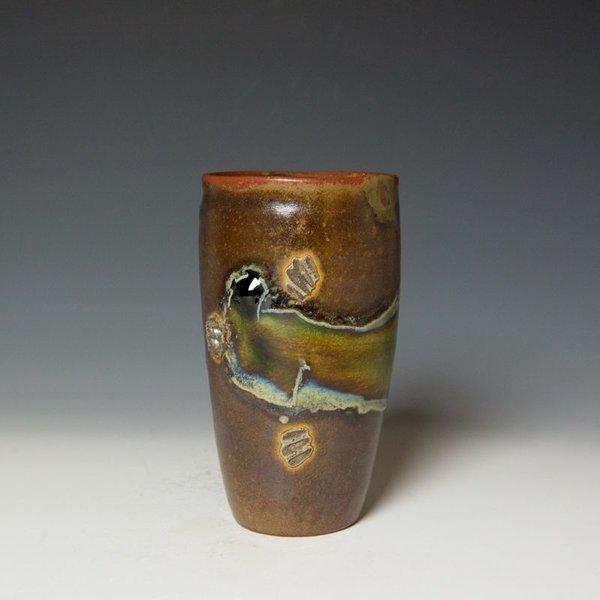 "Shadow May, Tumbler, stoneware, glaze, 6 x 3.5"""