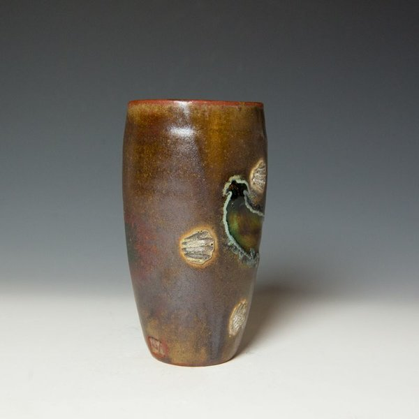 "Shadow May, Tumbler, stoneware, glaze, 6.25 x 3.25"""