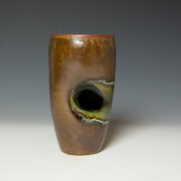 Shadow May, Tumbler, stoneware, glaze, 6.25 x 3.25""