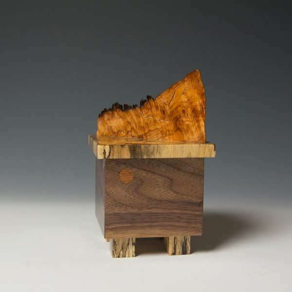 "Doug Pisik Doug Pisik, Mini Box ""Eruption"", various woods, 6.75 x 4 x 4"""