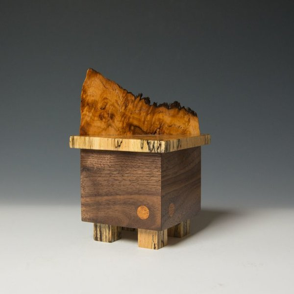 "Doug Pisik, Mini Box ""Eruption"", various woods, 6.75 x 4 x 4"""