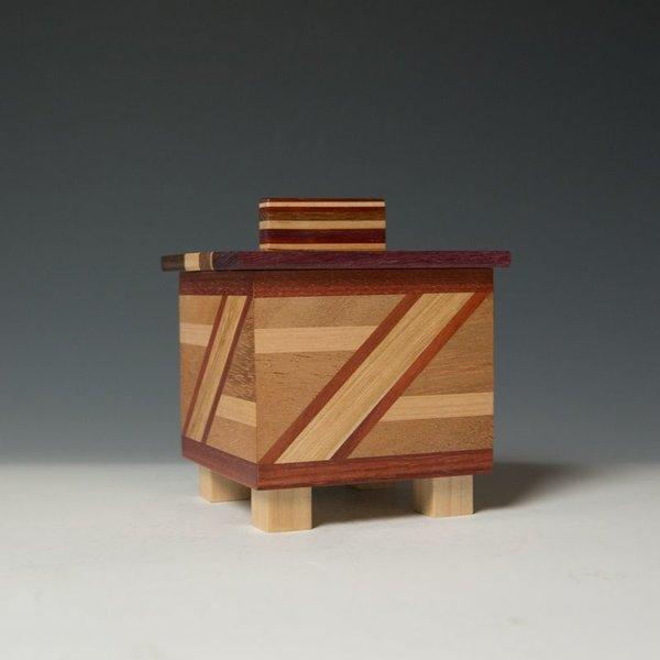 """Doug Pisik, Mini Box """"Gate"""", various woods, 4.5 x 4.5 x 5"""""""
