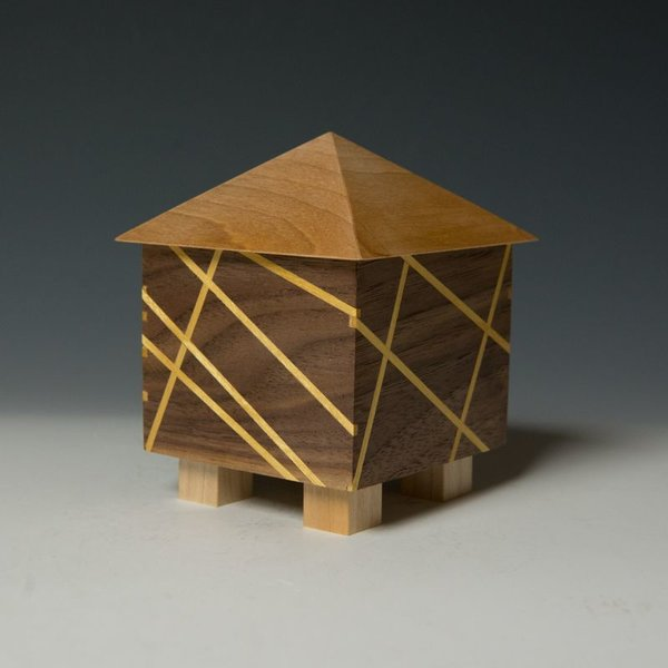 "Doug Pisik, Mini Box ""Ray"", various woods, 5 x 4 x 5"""