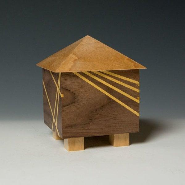 """Doug Pisik Doug Pisik, Mini Box """"Ray"""", various woods, 5 x 4 x 5"""""""