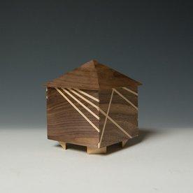 """Doug Pisik, Mini Box """"Rays"""", various woods, 5 x 4 x 4"""""""