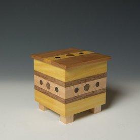"""Doug Pisik Doug Pisik, Mini Box """"Sight"""", various woods, 5 x 4 x 4"""""""