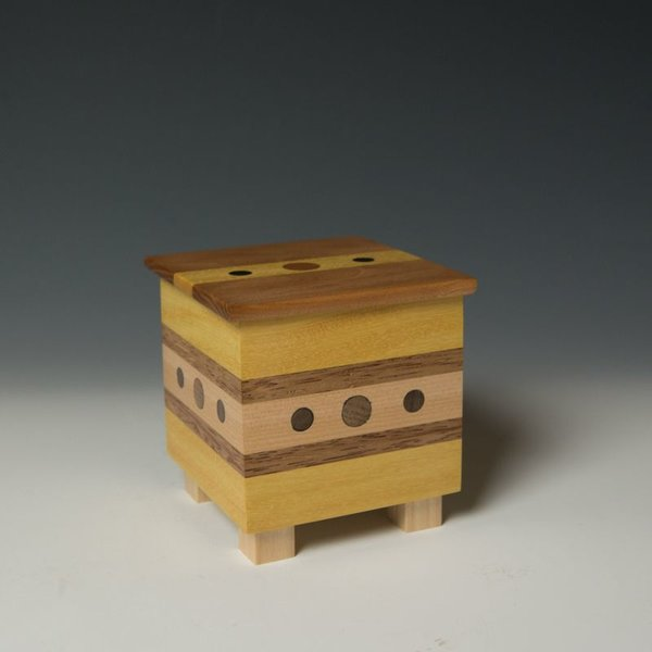 "Doug Pisik Doug Pisik, Mini Box ""Sight"", various woods, 5 x 4 x 4"""