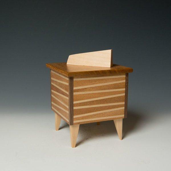 "Doug Pisik, Mini Box ""Wedge"", various woods, 6 x 4.5 x 4.5"""