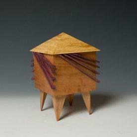 """Doug Pisik, Mini Box """"Whisker"""", various woods, 6 x 4 x 4"""""""