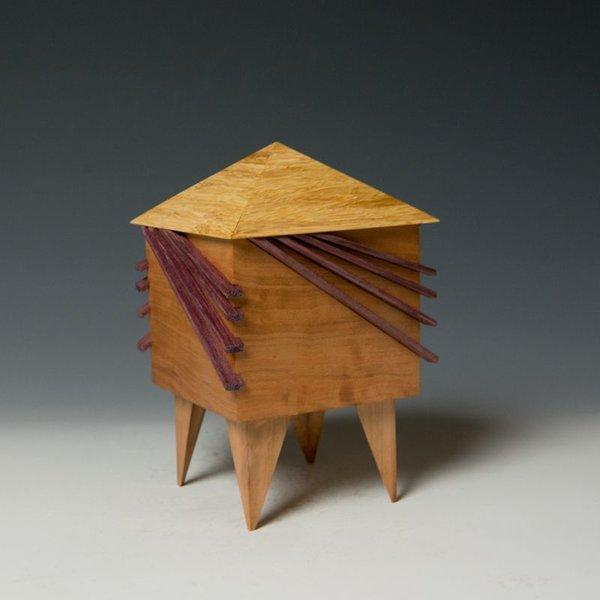"""Doug Pisik Doug Pisik, Mini Box """"Whisker"""", various woods, 6 x 4 x 4"""""""