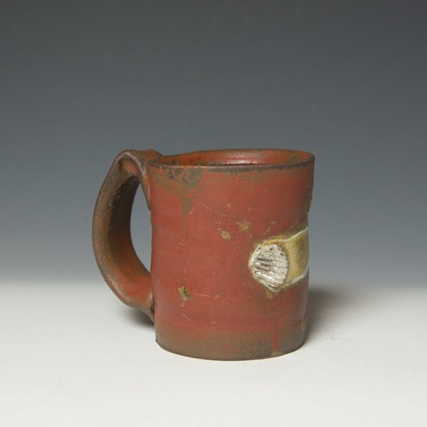 "Shadow May, Mug, handbuilt stoneware, glaze, 4.25 x 4.75 x 3.5"""
