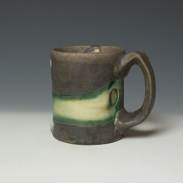 "Shadow May, Mug, handbuilt stoneware, glaze, 4.25 x 5 x 3.5"""