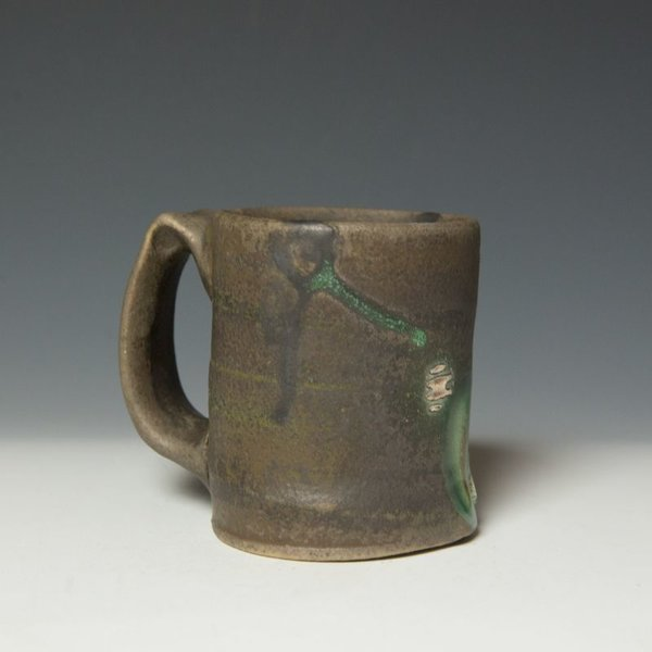 Shadow May, Mug, handbuilt stoneware, glaze, 4.25 x 5 x 3.5""