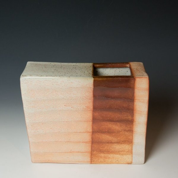 Nancy Green Nancy Green, Rectangular Vase, soda-fired stoneware