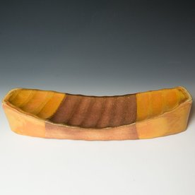 Nancy Green Nancy Green, Hollow Form Boat Serving Platter, soda-fired stoneware