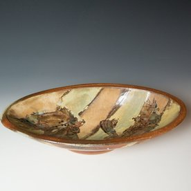 The Southern Table Ken Sedberry, Footed Oval Bowl, stoneware