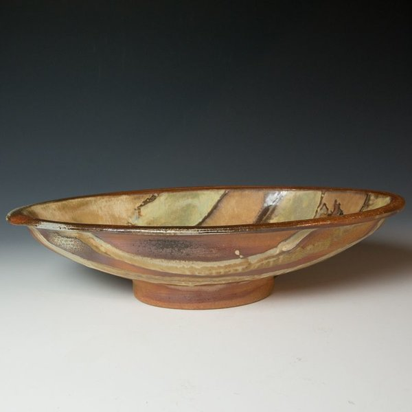 Ken Sedberry, Footed Oval Bowl, stoneware
