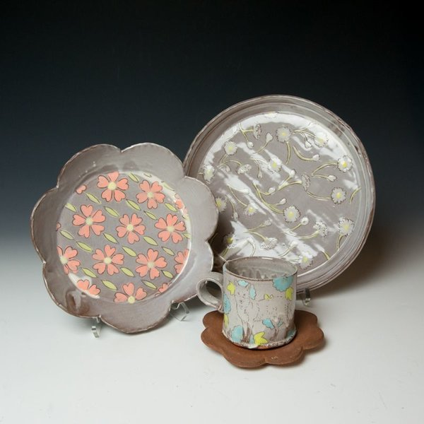 Grace Tessein/Dennis Ritter, Large Plate, earthenware