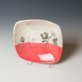 "Erik Haagensen Erik Haagensen, Small Square Dish, earthenware, 1.25 x 6.5 x 6.5"""