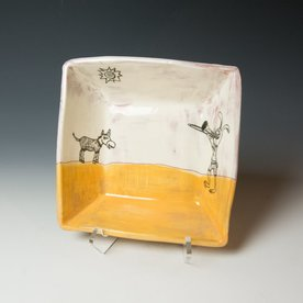 "Erik Haagensen Erik Haagensen, Deep Square Bowl, earthenware, 2.75 x 8.5 x 8.5"" dia"