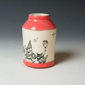 """Erik Haagensen Erik Haagensen, Bottle Vase, earthenware, 5.5 x 2.75 """""""