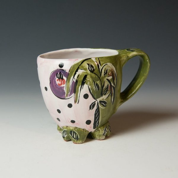 Posey Bacopoulos Posey Bacopoulos, Footed Cup, majolica