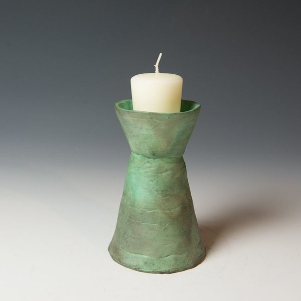 Ann Housworth Ann Housworth, Candlestick Set, earthenware, underglaze, smoked,