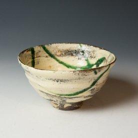 Hunt and Dalglish Michael Hunt & Naomi Dalglish, Soup Bowl, white slip, sgraffito, copper green