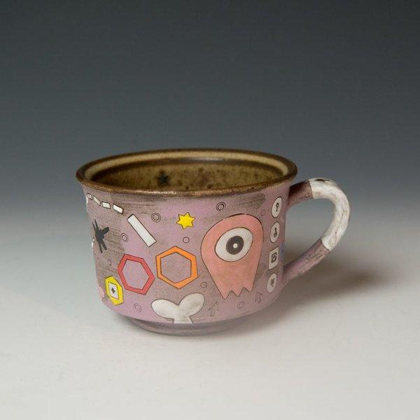 """Masa Sasaki Masa Sasaki, One Eye Alien Mug, black mountain clay, glaze, 3.25 x 5.25 x 4"""""""