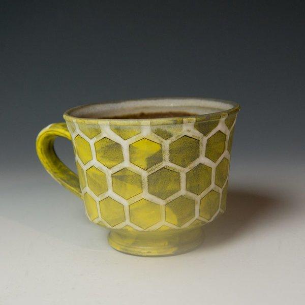 Masa Sasaki Masa Sasaki, Turtle Shell Mug, porcelain, yellow glaze