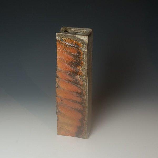 """Nancy Green Nancy Green, Tall Wedge Vase, wood-fired, 15x4.5x3"""""""