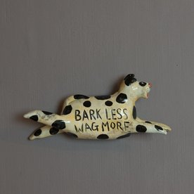 "Barry Gregg Barry Gregg, Dog, (wall) earthenware, glaze, 5""x3""x1"""