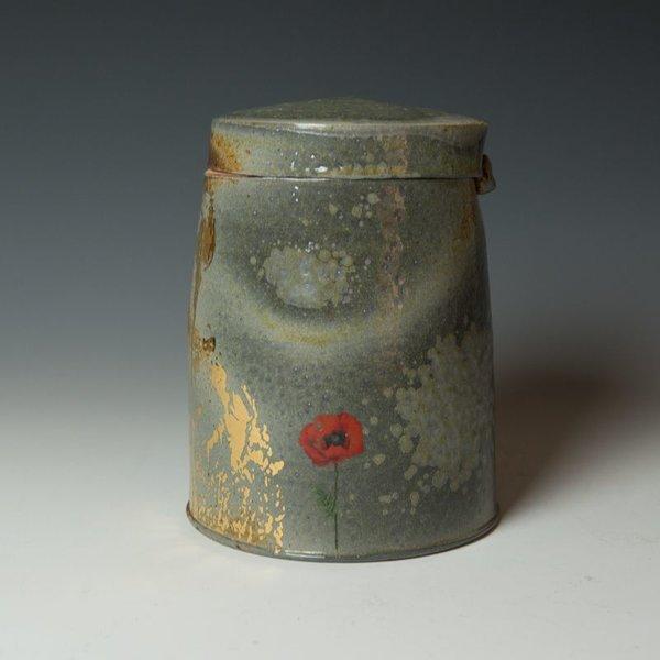 "Justin Rothshank Justin Rothshank, Lidded Jar, 8 x 6.25"" dia"