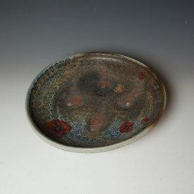 """Justin Rothshank Justin Rothshank, Platter, wheel thrown, glazes, decals, 3.25 x 16"""""""