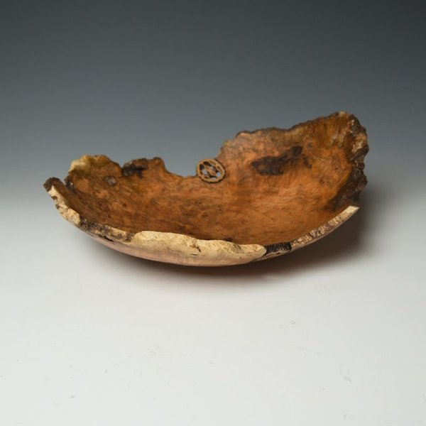 "Warren Carpenter, Cherry Burl 2 Walnuts, 4.5"" x 12"" x 10"""